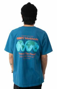 Protect The Earth T-Shirt - Blue Sapphire