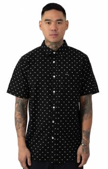 Spy Woven Button-Up Shirt - Black Multi