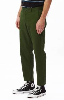 Straggler Flooded Pants - Park Green