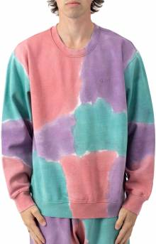 Sustainable Tie-Dye Crewneck - Purple Nitro Multi