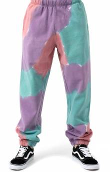 Sustainable Tie-Dye Sweatpants - Purple Nitro Multi