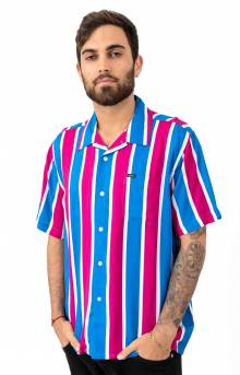 Sutter Stripe Woven Button-Up Shirt - Fuchsia Multi