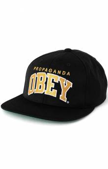 Throwback Snap-Back Hat - Black/Gold