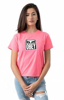 Eyes Icon T-Shirt - Safety Pink
