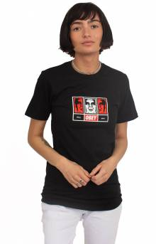 Obey 3 Faces 30 Years T-Shirt - Black