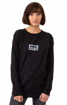 Obey Jumbled Eyes L/S Shirt - Black