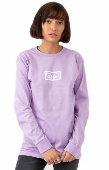 Obey Jumbled Eyes L/S Shirt - Lavender