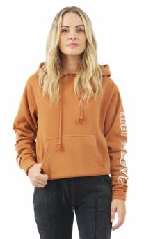 Obey Worldwide Outline Box Pigment  Pullover Hoodie - Dusty Cowhide
