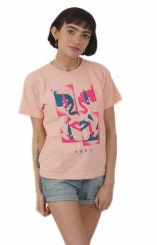 Obey X - Acto Icon Face T-Shirt - Peach