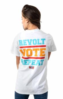 Revolt Vote Repeat T-Shirt - White
