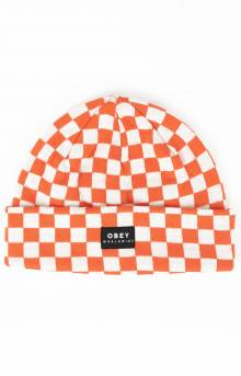 Vernon Check Beanie - Orange Multi