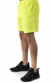 Wide Wale Corduroy Chill Shorts - Neon Green