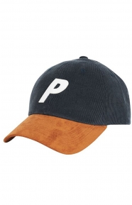 P 6 Panel Hat - Navy Cord/Suede