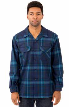 Board L/S Button-Up Shirt - Blue/Teal Ombre