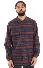Board Stripe Button-Up Shirt - Blue/Red