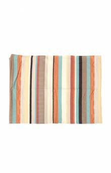 Chimayo Throw Blanket - Stripe Coral