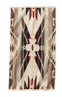Jacquard Hand Towel - White Sands Tan