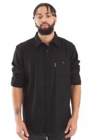L/S Fitted Trail Button-Up Shirt - Black