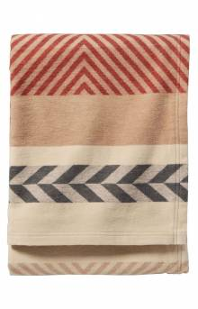 Mojave Twill Clay Organic Cotton Throw Blanket - Mojave Clay