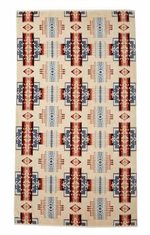 Oversized Jacquard Towel - Chief Joseph Rosewood