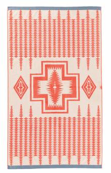 Oversized Jacquard Towel - Coral
