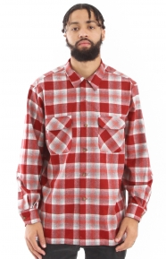 Ultrafine Merino Button-Up Shirt - Red Plaid