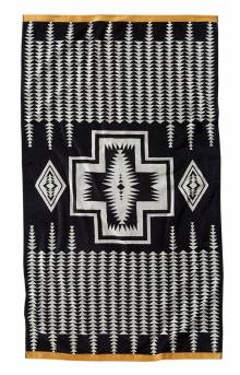 (XB233-55214) Oversized Jacquard Spa Towel - Harding Black