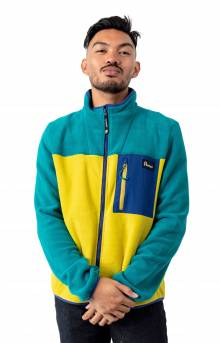 Herald Fleece Zip-Up - Teal/Citrus