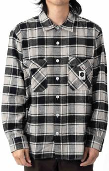 Flannel Button-Up Shirt - Black