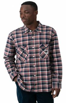 Flannel Button-Up Shirt - Navy/Red