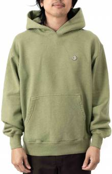 Patch Pullover Hoodie - Heather Green