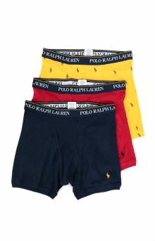 3 Pack Cotton Classic Boxer Briefs - Yellow/Red/Navy
