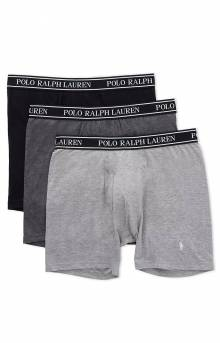 3 Stretch Classic Fit Boxer Briefs - Black/Charcoal/Heather Grey