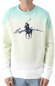 Big Pony Dip Dyed Spa Terry Sweatshirt - White Dip Dye Multi
