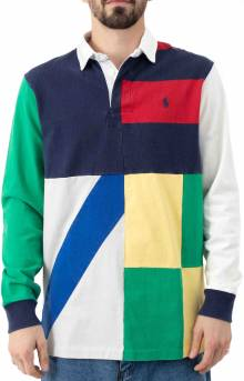 Classic Fit Patchwork Rugby Shirt