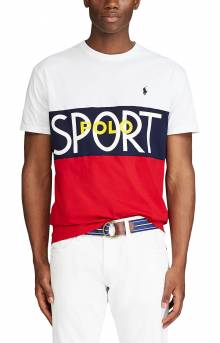 Classic Fit Polo Sport T-Shirt - White