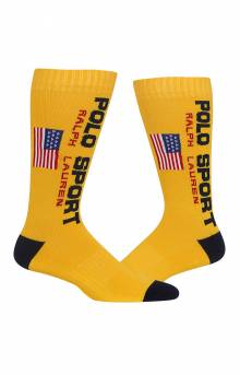Classic Polo Sport Crew Socks - Gold
