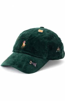 Corduroy Classic Sports Cap - Green