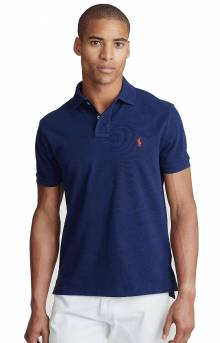 Custom Slim Fit Mesh Polo - Newport Navy