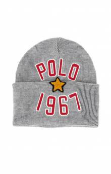 Polo 1967 Watchcap - Light Grey Heather