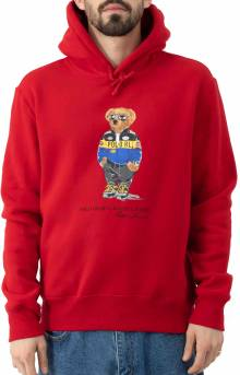 Polo Bear Racing Jacket Pullover Hoodie - Red