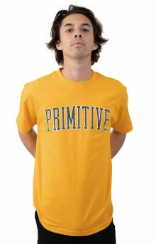Collegiate Arch Outline T-Shirt - Gold