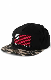 Crooked Snap-Back Hat - Black