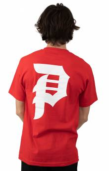 Dirty P Core T-Shirt - Red/White