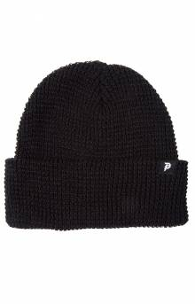 Dirty P Waffle Two-Fer Beanie - Black