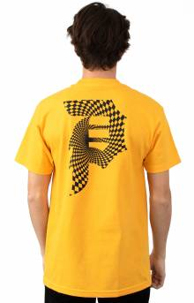 Dirty P Warp T-Shirt - Gold