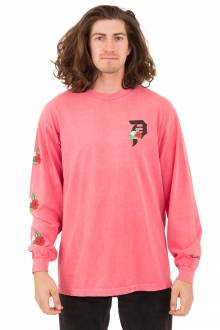 Dos Flores Over Dye L/S Shirt - Coral