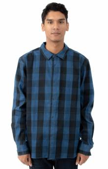 Indigo Check L/S Button-Up Shirt - Indigo