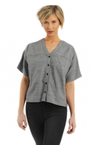 Sophie Button-Up - Grey