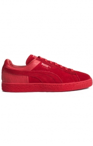 Suede Classic Casual Emboss Shoes - Cherry